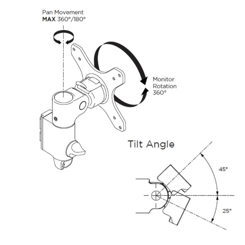 Monitor Arm Diagram