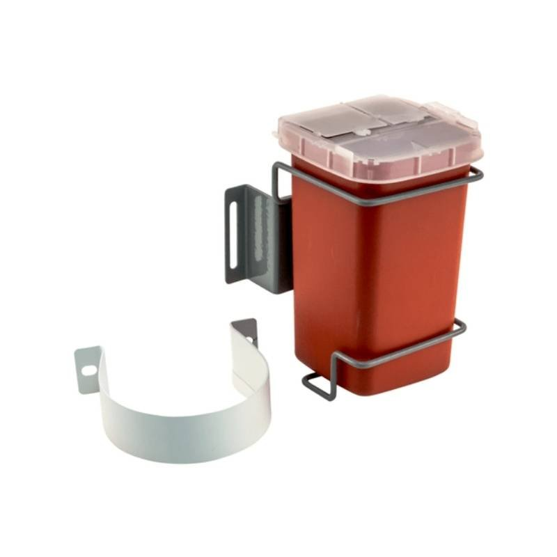 Sharps container with column mount