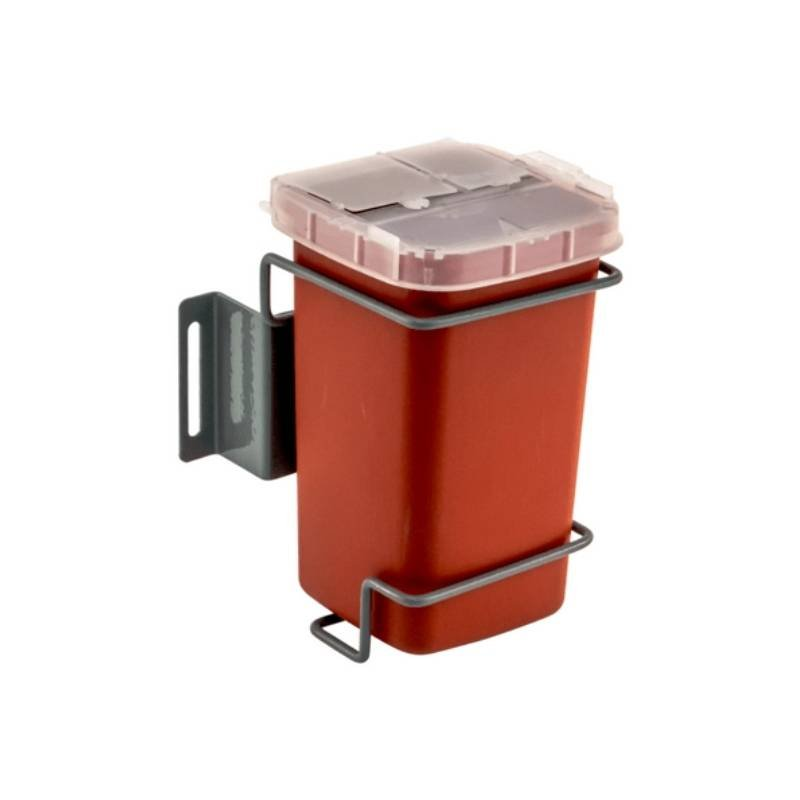 Sharps container with side or rear mount